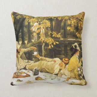 Arte del Victorian, Holyday, la comida campestre Cojín