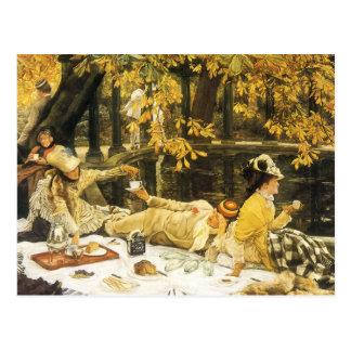 Arte del Victorian, Holyday, la comida campestre Postales