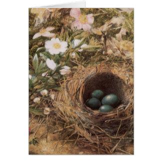 Arte del Victorian, jerarquía de los pájaros y Tarjeta De Felicitación
