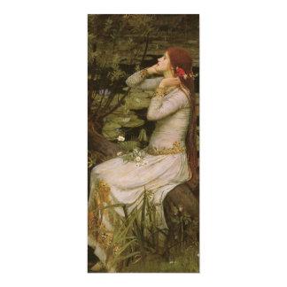 """Arte del Victorian, Ofelia por la charca por el Invitación 4"""" X 9.25"""""""