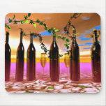 Arte del vino alfombrillas de ratones