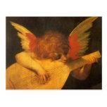 Arte del vintage, ángel del músico de Rosso Tarjetas Postales