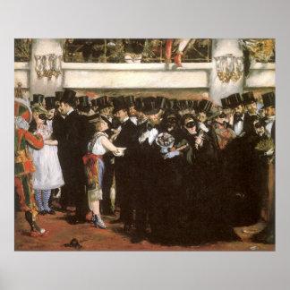 Arte del vintage, bola enmascarada en la ópera por