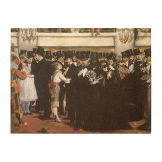 Arte del vintage, bola enmascarada en la ópera por impresiones en madera