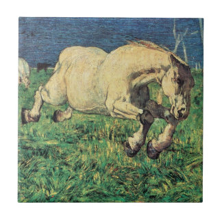 Arte del vintage, caballo galopante de Giovanni Azulejo Cuadrado Pequeño