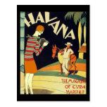 Arte del vintage de la cubierta del art déco de La Tarjeta Postal