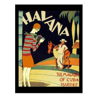 Arte del vintage de la cubierta del art déco de La Postal