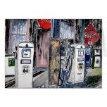 arte del vintage de la gasolinera de la ruta 66 tarjetón