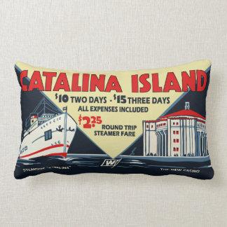 Arte del vintage de la isla de Catalina - almohada