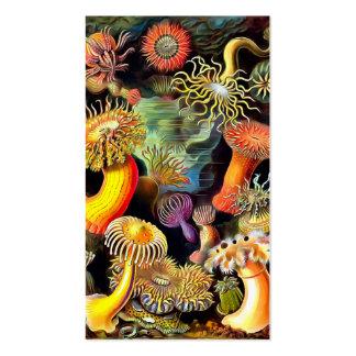 Arte del vintage de las anémonas de mar de Ernst Tarjetas De Visita
