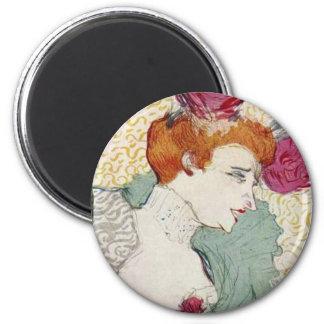 Arte del vintage de Marcelle del Mademoiselle de T Imán Redondo 5 Cm