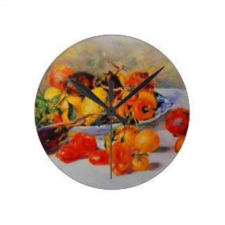 Arte del vintage de Renoir Reloj Redondo Mediano