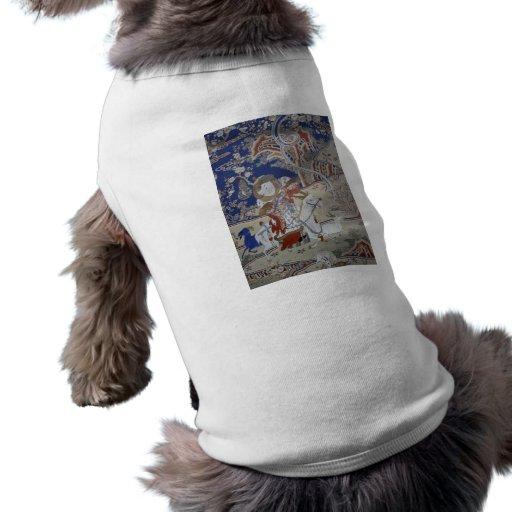 Arte del vintage de Taiwán Camiseta De Perro
