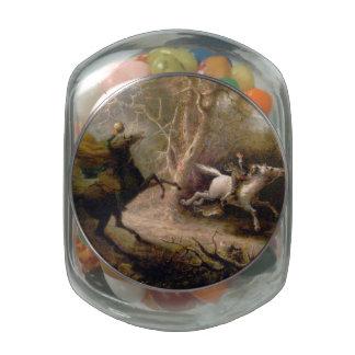 Arte del vintage del hueco soñoliento jarras de cristal jelly bely