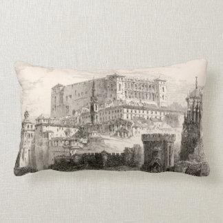 Arte del vintage del paisaje urbano de la fortalez almohadas