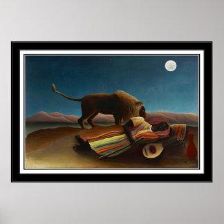Arte del vintage del poster el gitano durmiente 18