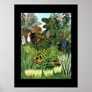 Arte del vintage del poster la selva