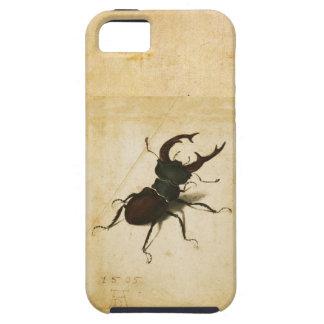 Arte del vintage del renacimiento del escarabajo iPhone 5 funda