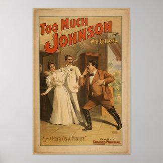 Arte del vintage demasiado poster de Johnson