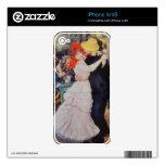 Arte del vintage en pieles del teléfono celular skins para eliPhone 4S