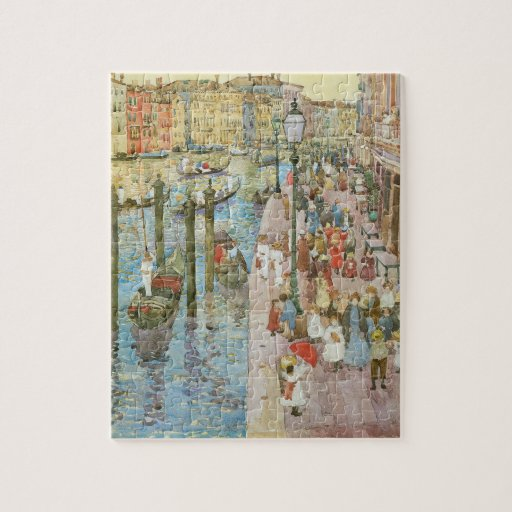 Arte del vintage, Gran Canal, Venecia por Puzzle Con Fotos