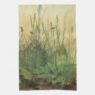 Arte del vintage, gran pedazo de césped de toalla de cocina