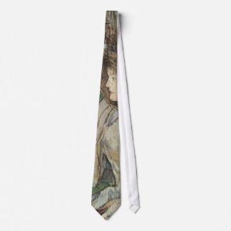 Arte del vintage, mujer con los guantes por corbata