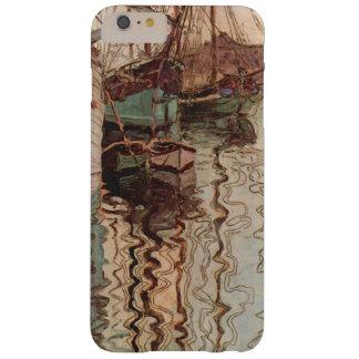 Arte del vintage, puerto de Trieste de Egon Funda Barely There iPhone 6 Plus