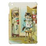 Arte del vintage: Robo cogido gatito iPad Mini Carcasa
