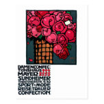 Arte del vintage: Rosas - Luis Hohlwein Postal