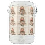 Arte del vintage vaso enfriador igloo