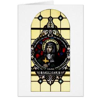 Arte del vitral de Angela Merici del santo Felicitacion