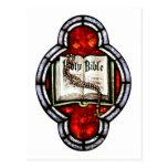 Arte del vitral de la Sagrada Biblia y del rosario Postal