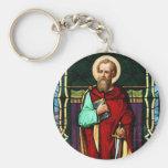 Arte del vitral de Saint Paul (Paul el apóstol) Llaveros Personalizados