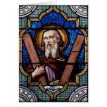 Arte del vitral de St Andrew (apóstol Andrew) Felicitacion
