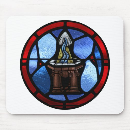 Arte del vitral del bautismo alfombrilla de ratón
