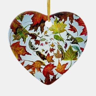Arte del vórtice de las hojas de otoño ornaments para arbol de navidad
