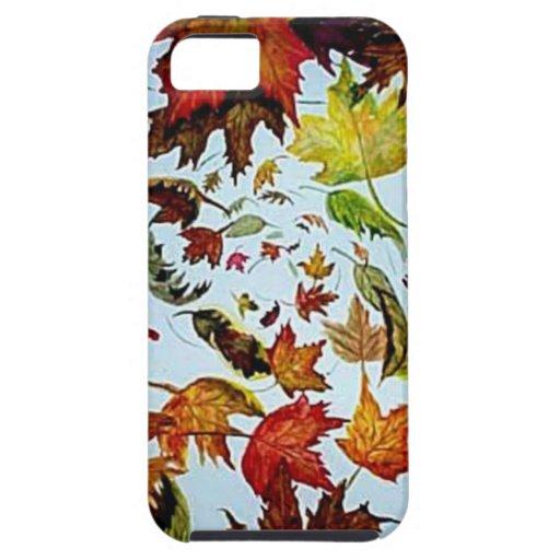 Arte del vórtice de las hojas de otoño iPhone 5 protector