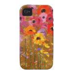 Arte del Wildflower iPhone 4 Funda