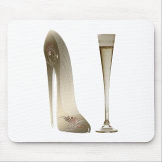 Arte del zapato del estilete y regalos de la flaut alfombrilla de ratón