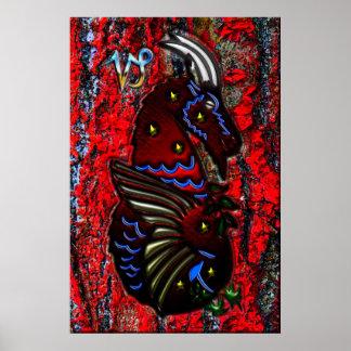 Arte del zodiaco del Capricornio Poster