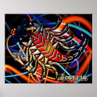 Arte del zodiaco del escorpión impresiones
