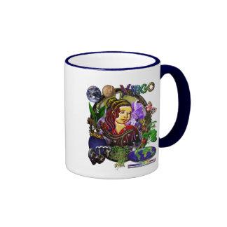 Arte del zodiaco del virgo taza de café