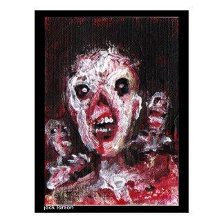 Arte del zombi por Jack Larson Postal