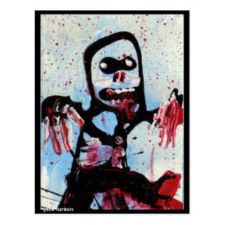 Arte del zombi por Jack Larson Postales