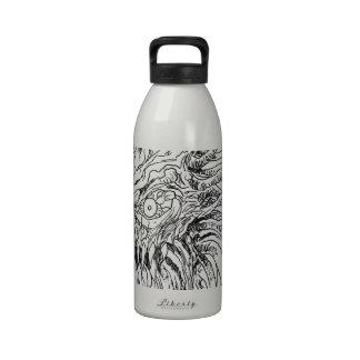 Arte demoníaco del tentáculo botella de agua