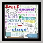 Arte dental del subterráneo de los términos póster