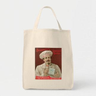 Arte destrozado del anuncio de la comida del vinta bolsas de mano