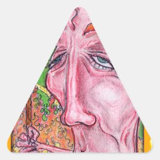 Arte diabólico por TEO Pegatina Triangular