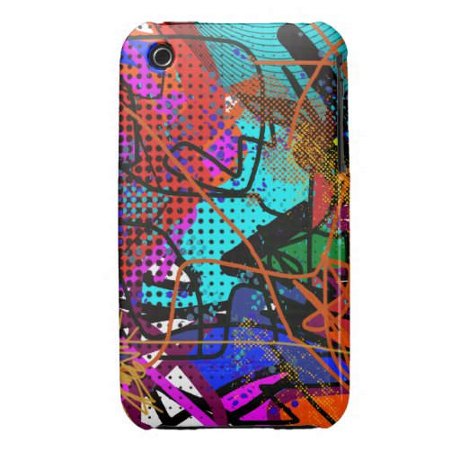 arte digital abstracto Case-Mate iPhone 3 funda